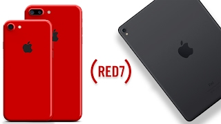 RED iPhone 7 Color & New iPad Pro 2