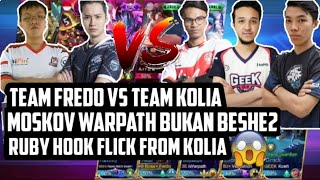 TEAM FREDO VS TEAM KOLIA !!! MOSKOV WARPATH BUKAN BESHE2 !!! - MOBILE LEGENDS