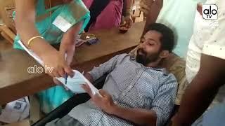 ಅಂಬುಲೆನ್ಸ್ ನಲ್ಲಿ ಬಂದು ಮತದಾನ ಮಾಡಿದ ಯುವಕ | Young Man Vote in Ambulance | AloTVKannada