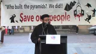 Fr Gabriel Yassa&#039;s message at ACM&#039;s Coptic Rights Protest 14.04.13