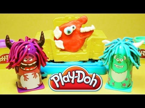Play Doh Monsters University Scare Chair Barber Shop Disney Pixar Monster Inc Play-Doh toy review