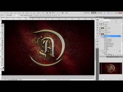 Урок_5_Adobe Photoshop CS5!!! Создание логотипа!!!
