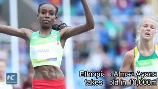 Ethiopia's Almaz Ayana Smashes 10,000m World Record At Rio Olympics
