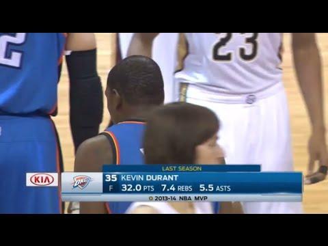 2015 : Kevin Durant vs the Pelicans