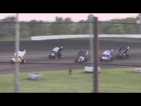 Salina HighBanks Speedway 8 16 13  ASCS Sprint car Heat #3