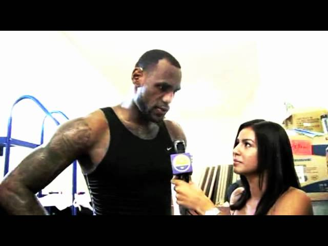 WarriorsWorld TV exclusive interview with LeBron James at Drew League