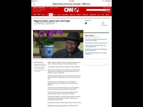 Chief Obi - Nigeria bans same-sex marriage