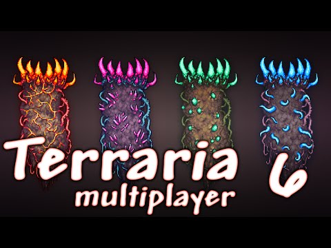 Terraria na multiplayer #6 - Podziemne domki.