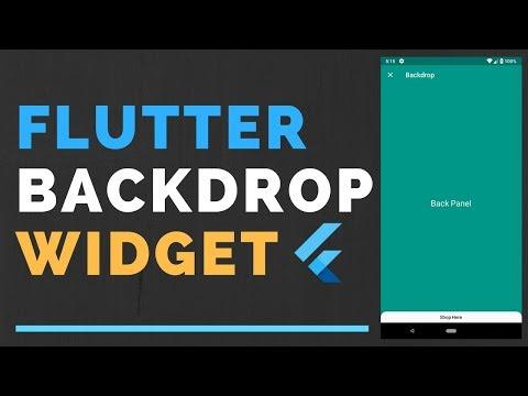 Flutter: Backdrop Widget Tutorial | Material Design 2.0
