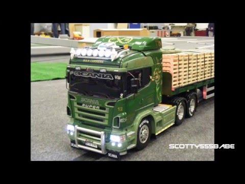 Rc Trucks @ Leyland. Rc Scania V8 MAN Tamiya. MERRY CHRISTMAS 13 December 2014
