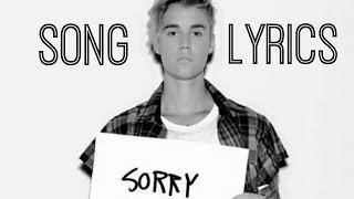 SORRY - Justin Bieber (Lyric Video)