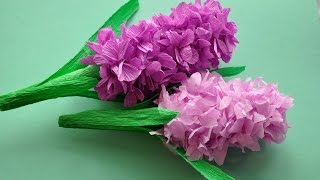 Hiacynt z bibuły krok po kroku# How to make hyacinth flower DIY