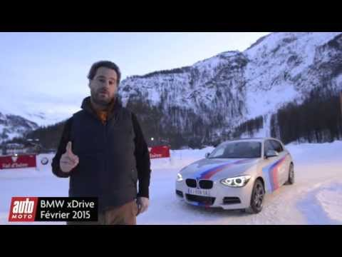 BMW 135i xDrive : les 4 roues motrices en pleine action sur un circuit glace