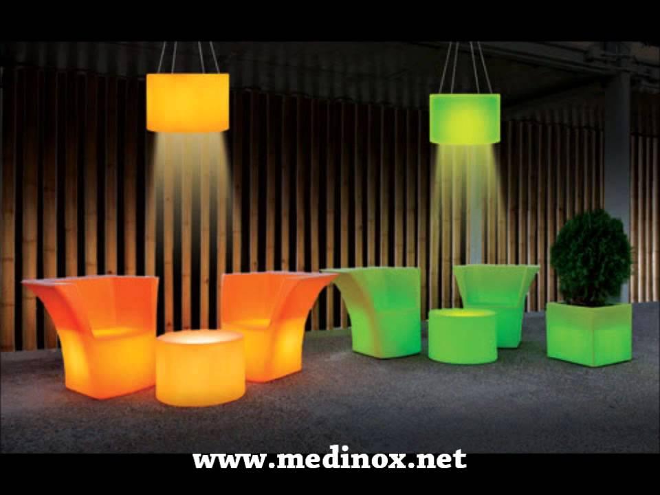 Mobiliario chill out mobiliario terraza medinox youtube for Mobiliario de terraza