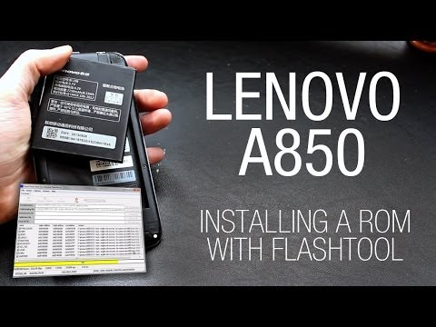 Lenovo A850 - Installing a custom ROM with Flashtool