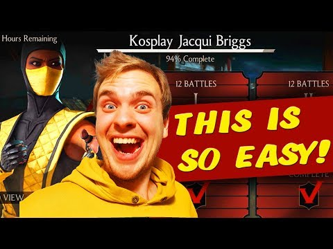 MKX Mobile 1.16. Kosplay Jacqui Briggs Challenge Review. Easiest Challenge Ever:)