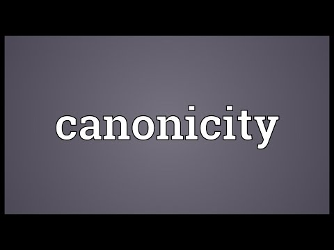 Header of canonicity