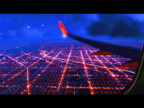 Chicago flight movie ==✈ EXTREME REALISM --FSX-- Chicago landing Southwest airlines- FSX