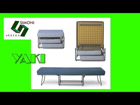 POUF LETTO  MODELLO YAKI - YouTube