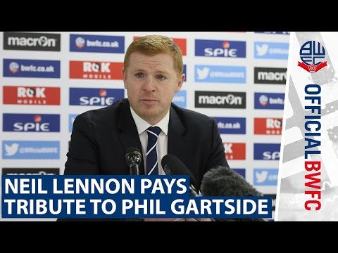Neil Lennon pays tribute to Phil Gartside