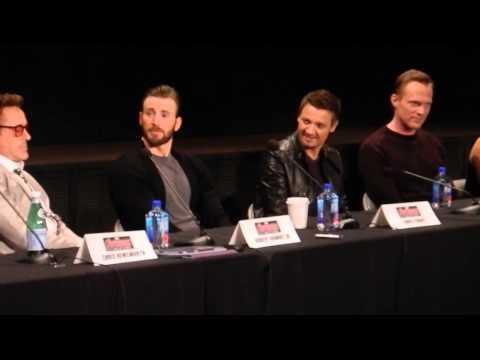 Robert Downey Jr., Chris Evans, Chris Hemsworth, Joss Whedon & Avengers 2 Co-stars Press Conference