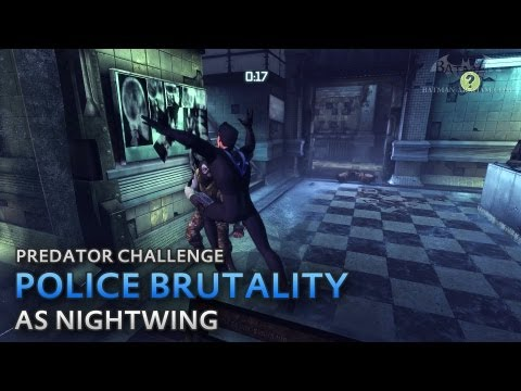 Batman: Arkham City – Police Brutality [as Nightwing] – Predator Challenge