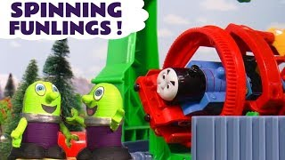 Funny Funlings run the Thomas & Friends Steamworks for a day repairing McQueen and Billy TT4U