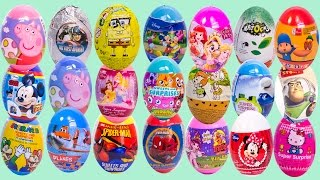 Surprise Eggs Peppa Pig Pocoyo Mickey Mouse Minnie Mouse MLP Play Doh Eggs Huevos Sorpresa