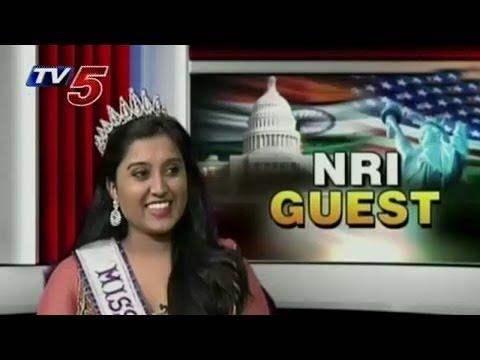 Miss South Asia Trisha Guduru With NRI Guest : TV5 News