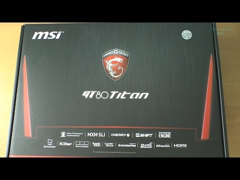 Unboxing MSI GT80 2QE TITAN (GTX 980M SLI)-428UK - amazing gaming laptop !!!
