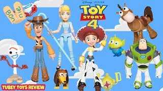 NEW Disney Pixar TOYBOX Toy Story 4 Poseable Action Figures Full Set Tubey Toys