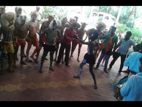 Tiger dance in tulu nadu