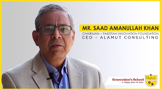A message by Mr. Saad Amanullah Khan