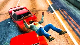 GTA V Unbelievable Crashes/Falls - Episode 15