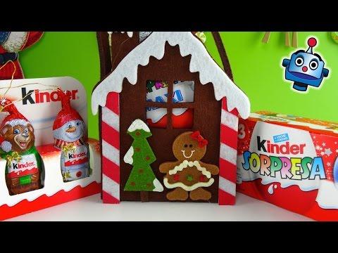 Huevos Kinder Sorpresa Navidad y chocolatinas para decorar tu Arbol - Especial Navidad 2014