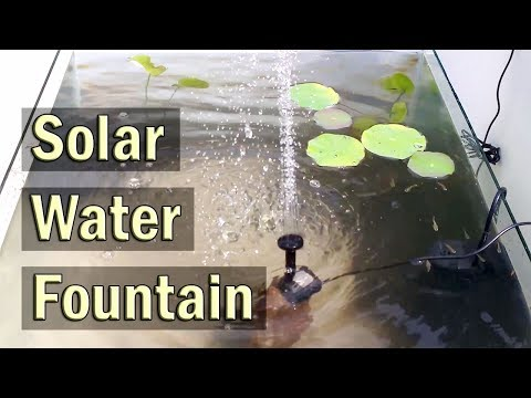 Solar Water Fountain Pump Kit for Outdoor Ponds. Patio and Aquariums - Review