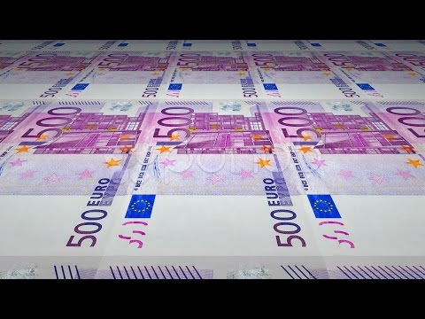 Printing Of 500 Euro Banknotes. Stock Footage