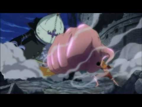 One Piece Attaque Finale - Luffy Vs Gecko Moria - Gomu Gomu No Gigant Jet Shell video
