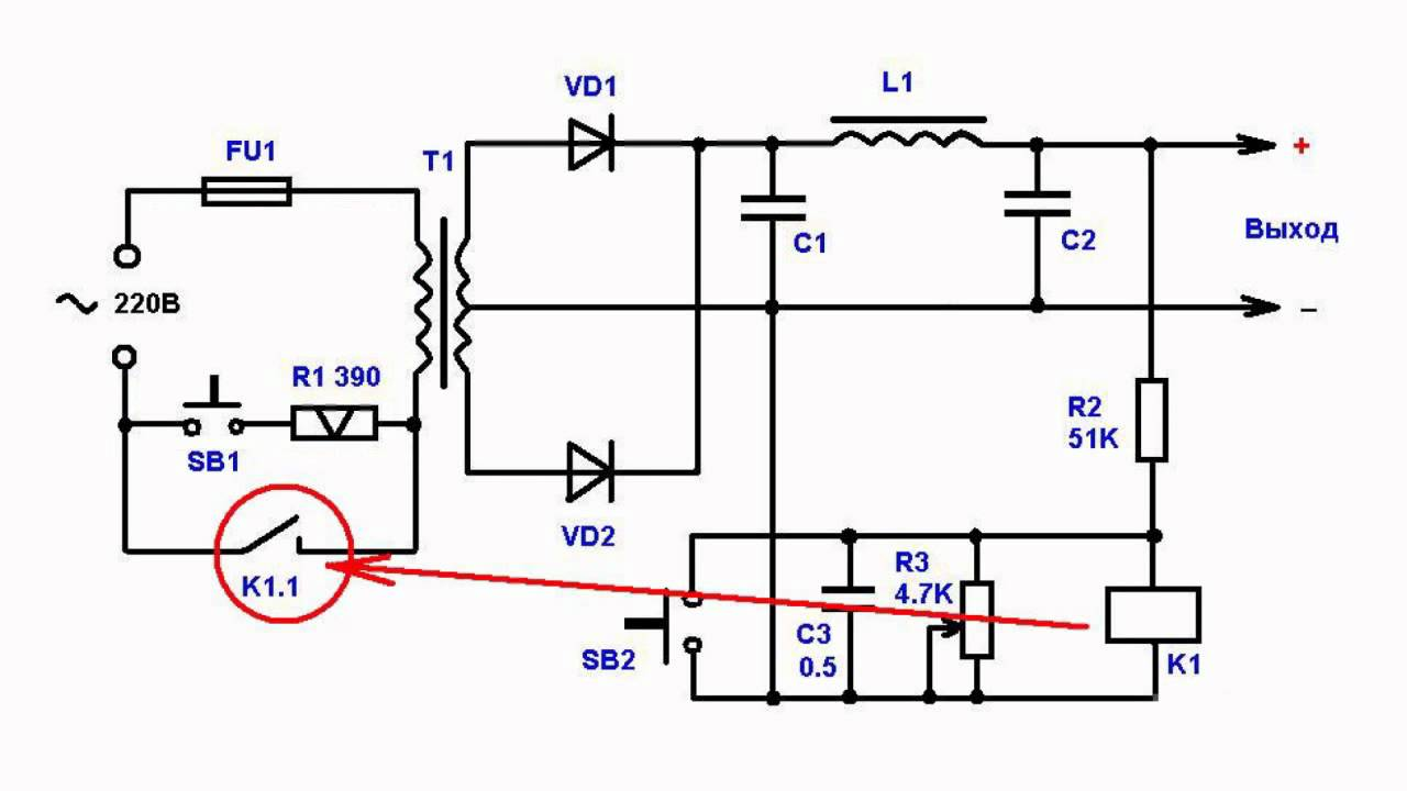 Overload Protection Circuit Of Power Supply Youtube