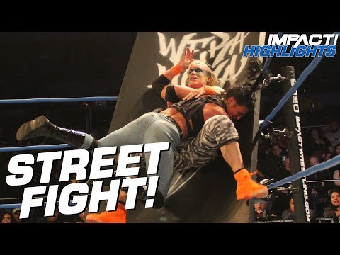 Taya Valkyrie vs Tessa Blanchard: STREET FIGHT for Knockouts Title | IMPACT! Highlights Feb 15, 2019 #1