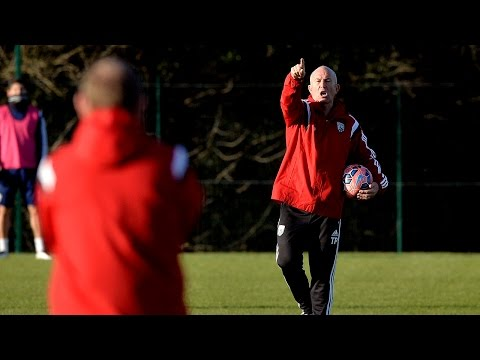 Tony Pulis takes his first training session as Head Coach of West Bromwich Albion