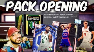 PINK DIAMOND KYRIE IRVING PACK OPENING! NBA 2K19 MYTEAM PULLING GREATNESS LIVE!