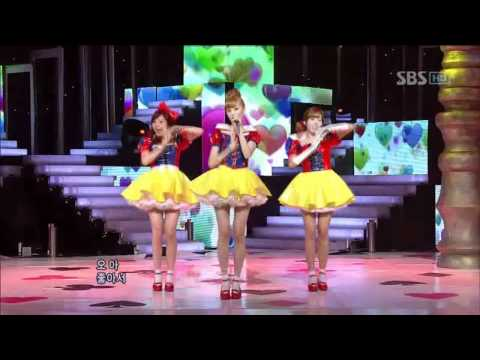 Orange Caramel - Aing (오렌지 캬라멜 - 아잉)  Sbs Inkigayo 인기가요 100808 video
