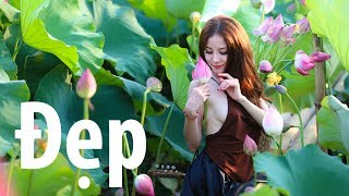 Beautiful Girl | Young woman on lotus | Part 2 - Falling with peaches | Pretty