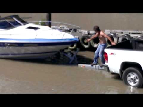 One man boat launch perfection. You got to watch