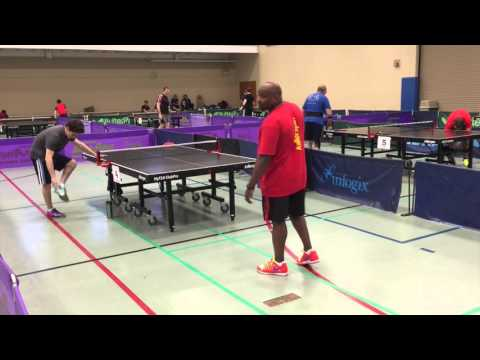 Tactical Table Tennis Commentary - Jasper (2022) vs Keith (1983) at Aurora Open, Spring 2016