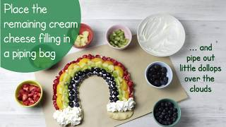 NEW || How To Make A Tasty Yummy Yummy  Rainbow shaped Fruit Cake At Home