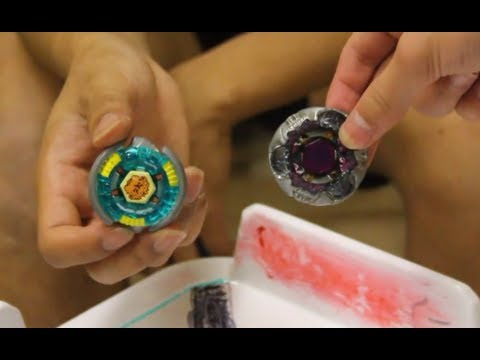 Epic Beyblade Battle: Vulcan Leone Ad145ds Vs. Gravity Perseus Df145fs  ベイブレード video