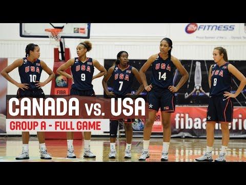 Canada vs. USA- Group A  - 2014 FIBA Americas Championship for Women U18