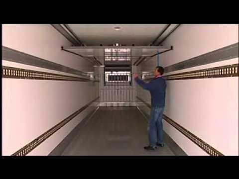 Amortiguadores mecánicos para cámaras de vehículos frigoríficos.